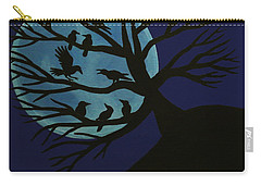 Spooky Raven Tree Carry-all Pouch
