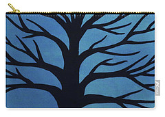 Spooky Tree Blue Carry-all Pouch