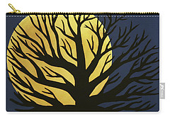 Spooky Tree Yellow Carry-all Pouch