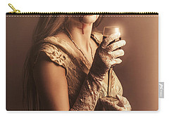 Spooky Vampire Girl Drinking A Glass Of Red Wine Carry-all Pouch by Jorgo Photography - Wall Art Gallery