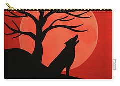 Spooky Wolf Tree Carry-all Pouch