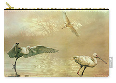 Spoonbill Morning Carry-all Pouch by Brian Tarr