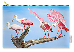 Spoonbill Party Carry-all Pouch by Mark Andrew Thomas