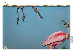 Spoonbills Greeting Carry-all Pouch