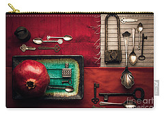 Spoons, Locks And Keys Carry-all Pouch by Ana V Ramirez