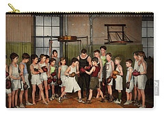 Carry-all Pouch featuring the photograph Sport - Boxing - Fists Of Fury 1924 by Mike Savad
