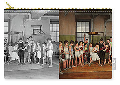 Carry-all Pouch featuring the photograph Sport - Boxing - Fists Of Fury 1924 - Side By Side by Mike Savad
