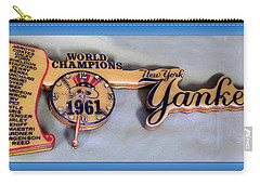 Sports Baseball 1961 Ny World Champions Clock Carry-all Pouch by Thomas Woolworth