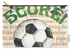 Sports Fan Soccer Carry-all Pouch by Debbie DeWitt