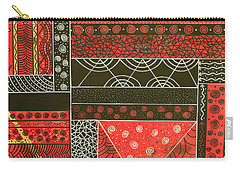 Spotaneous Red Carry-all Pouch by Riana Van Staden