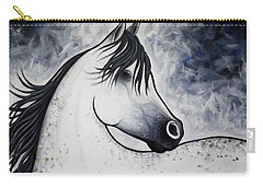 Carry-all Pouch featuring the painting Spots Of Gold by Lance Headlee