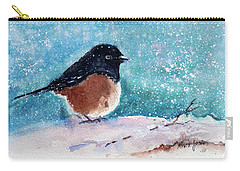 Spotted Towhee All Puffed Up Carry-all Pouch