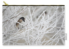 Spotted Towhee In Winter Carry-all Pouch