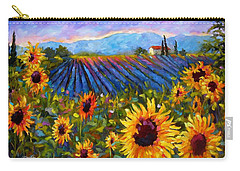 Carry-all Pouch featuring the painting Spread A Little Sunshine by Chris Brandley