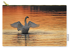 Spreading Her Wings In Gold Carry-all Pouch