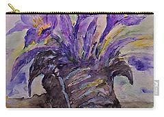 Carry-all Pouch featuring the painting Spring In Van Gogh Shoes by AmaS Art