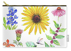 Spring 2017 Medley Watercolor Art By Kmcelwaine Carry-all Pouch