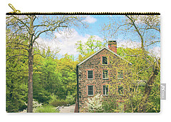 Spring At The Stone Mill  Carry-all Pouch by Jessica Jenney