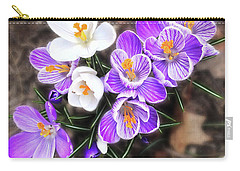 Carry-all Pouch featuring the photograph Spring Beauties by Terri Harper