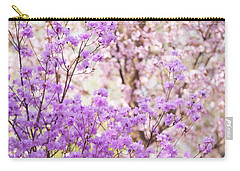 Carry-all Pouch featuring the photograph Spring Bloom Of Rhododendron  by Jenny Rainbow