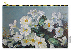 Carry-all Pouch featuring the painting Spring Blooms by Elena Oleniuc