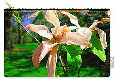 Carry-all Pouch featuring the photograph Spring Blossom Open Wide by Jeff Swan