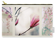 Carry-all Pouch featuring the photograph Spring Blossom Triptych by Jessica Jenney