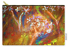 Carry-all Pouch featuring the painting Spring Blossom by Winsome Gunning