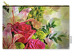 Spring Bouquet Carry-all Pouch by Maria Urso