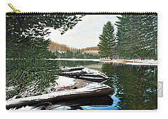 Carry-all Pouch featuring the painting Spring Breakup by Kenneth M Kirsch
