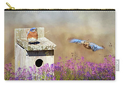 Carry-all Pouch featuring the photograph Spring Builders by Lori Deiter