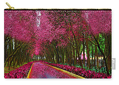 Spring Cherry Blossoms Carry-all Pouch by Saundra Myles