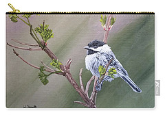 Spring Chickadee Carry-all Pouch by Wendy Shoults