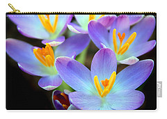 Carry-all Pouch featuring the photograph Spring Crocus by Jessica Jenney