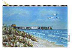 Spring Day On The Beach Carry-all Pouch by Val Miller