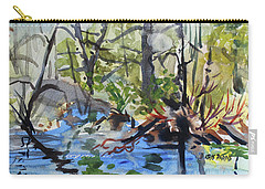 Carry-all Pouch featuring the painting Spring Explosion by Kris Parins