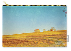 Carry-all Pouch featuring the digital art Spring Farm And Fields by Randy Steele