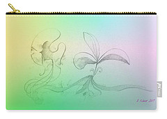 Carry-all Pouch featuring the mixed media Spring Feelings 1 by Denise Fulmer