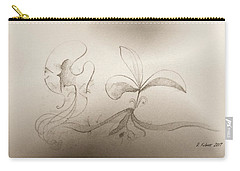 Carry-all Pouch featuring the mixed media Spring Feelings 2 by Denise Fulmer