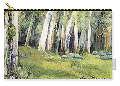 Carry-all Pouch featuring the painting Spring Field by Laurie Rohner