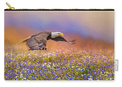 Spring Flight Bald Eagle Art Carry-all Pouch by Jai Johnson