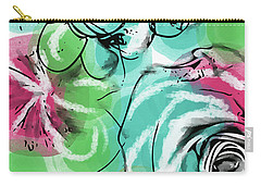 Carry-all Pouch featuring the mixed media Spring Floral 9- Art By Linda Woods by Linda Woods