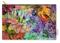 Spring Floral Composite  Carry-all Pouch by Janice Drew
