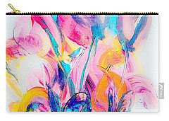Spring Floral Abstract Carry-all Pouch