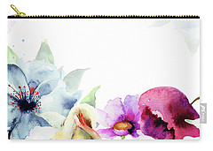 Spring Floral Background Carry-all Pouch