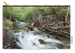 Carry-all Pouch featuring the photograph Spring Flow by Fran Riley