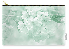 Carry-all Pouch featuring the photograph Spring Flower Blossoms Teal by Jennie Marie Schell