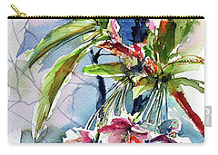 Carry-all Pouch featuring the painting Spring Flower by Kovacs Anna Brigitta