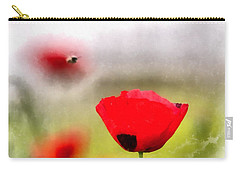 Spring Flowering Poppies Carry-all Pouch