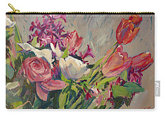 Spring Flowers Bouquet Carry-all Pouch